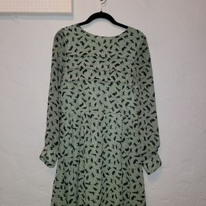 Mint green with black cats dress
